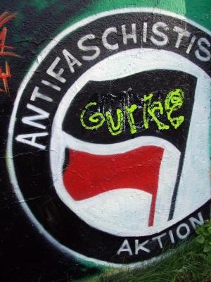 erstes gurke graffiti